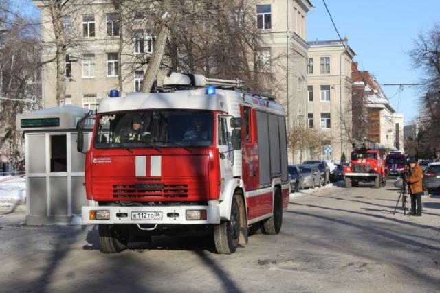 ВВоронеже наглавном помещении  милиции  прошли пожарные учения